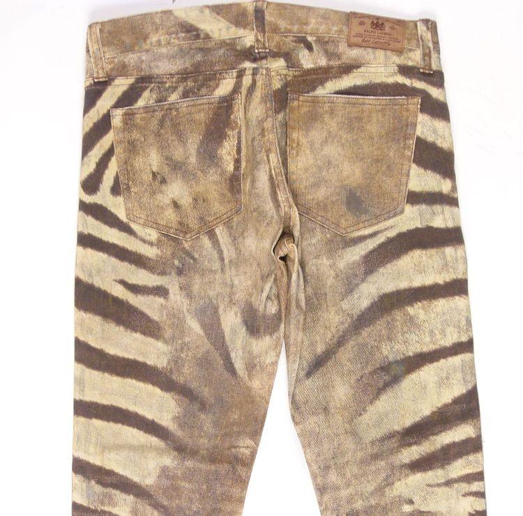 Ralph Lauren Jeans Hose W 29 in Braun Beige Zebra-Optik (HH) – Bild 4