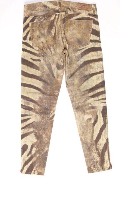 Ralph Lauren Jeans Hose W 29 in Braun Beige Zebra-Optik (HH) – Bild 3