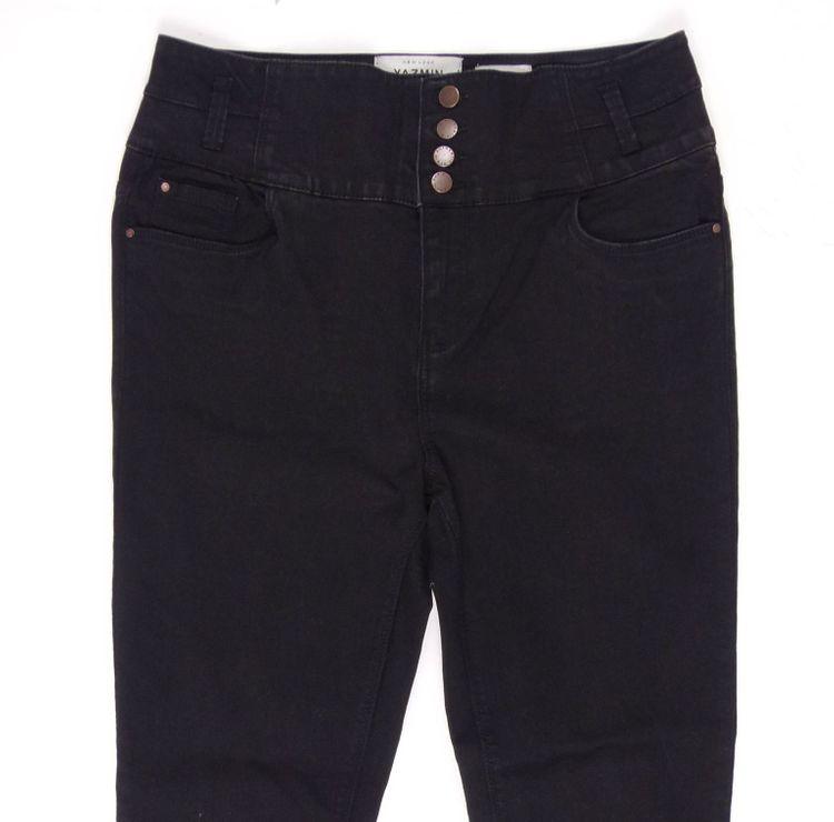 Yazmin Highwaist Skinny Jeans Hose Gr. 42 in Schwarz (HH) – Bild 2