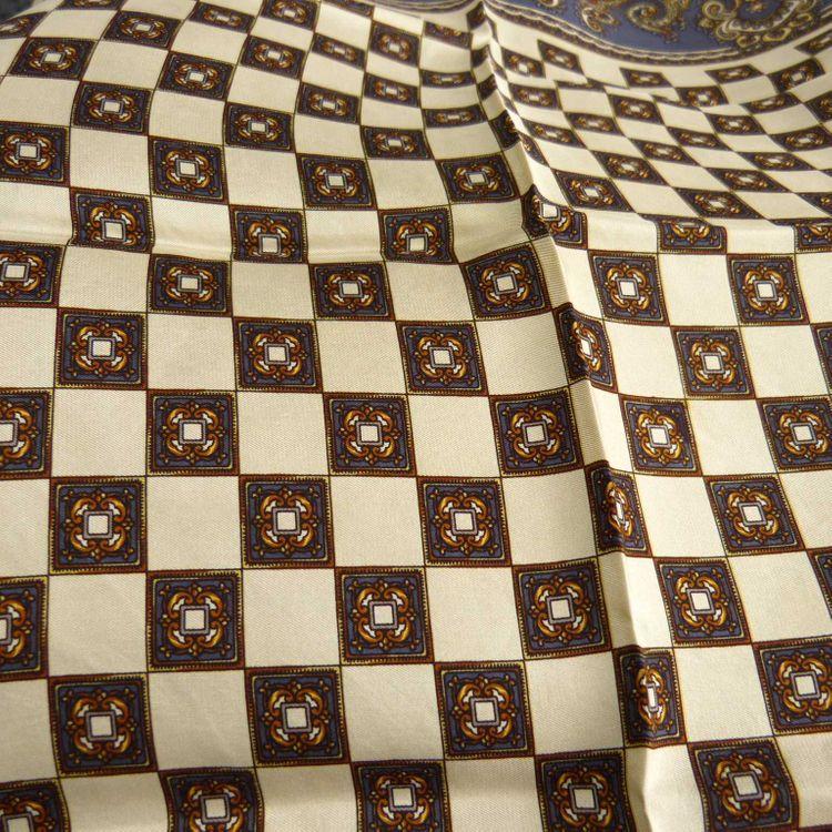 Designer Tuch Schal in Blau Braun Mehrfarbig gemustert (MUC) – Bild 2
