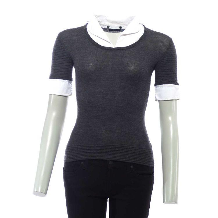 Rena Lange Strick Shirt Gr. S in Dunkelgrau Grau Schurwolle (HH) – Bild 1