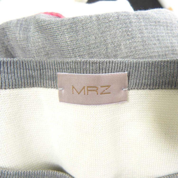 Mrz kurzarm Sweatshirt Shirt Gr. S in Creme Weiß Grau Multicolor (HH) – Bild 3