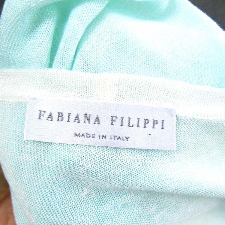 Fabiana Filippi Strick Jacke Gr. 46 in Mint Grün (HH) – Bild 3