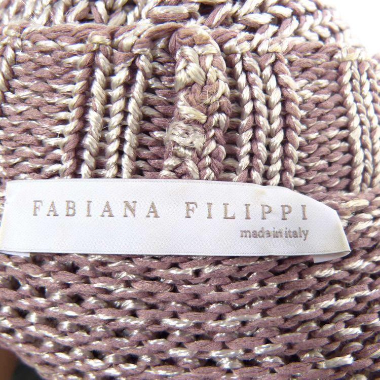 Fabiana Filippi Crop Strick Jacke Gr. 42 in Lila Silber (HH) – Bild 3