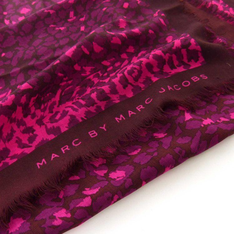 Marc Jacobs Schal Tuch in Pink Lila Bordeaux Leoparden Optik (HH) – Bild 2