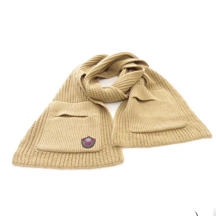 Ugg Schal in Beige Braun mit Taschen für die Hände & Wolle (HH) – Bild 1