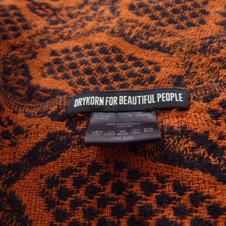 Drykorn Schal in Orange Braun Schwarz (HH)  – Bild 3