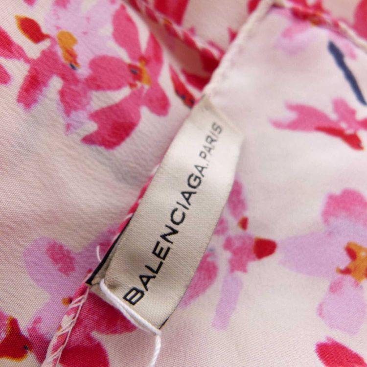 Balenciaga Tuch Schal in Cremé Rosa Florales Design (AHB) – Bild 3