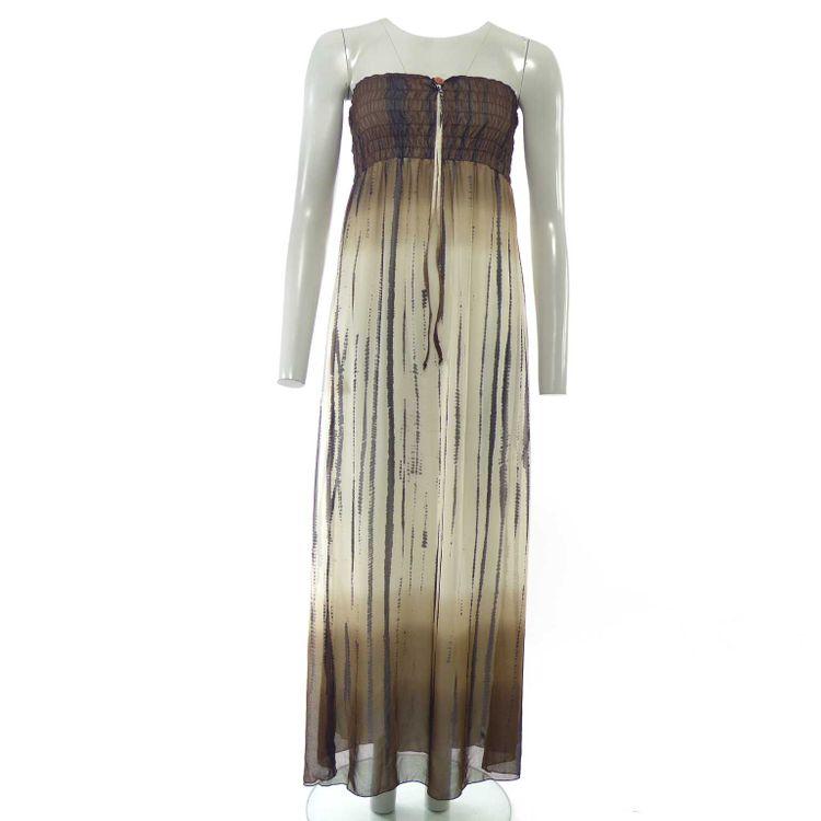 Promod Bandeau Kleid Gr. 34 in Braun Schwarz Beige (HH) – Bild 1