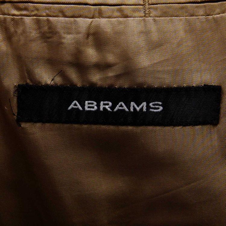 Abrams Anzug Gr. 50 in Braun gestreift 100% Schurwolle (AHB) – Bild 3