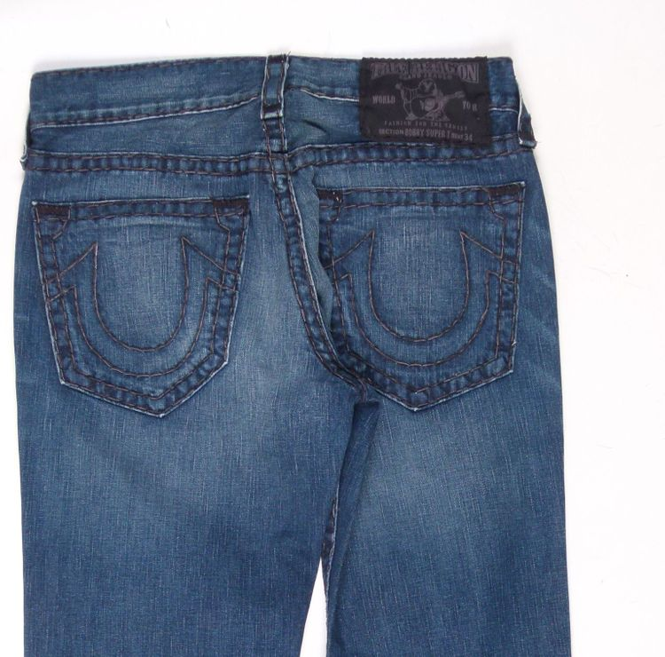 True Religion Bobby Super T Jeans Hose W 34 in Blau (AHB) – Bild 4