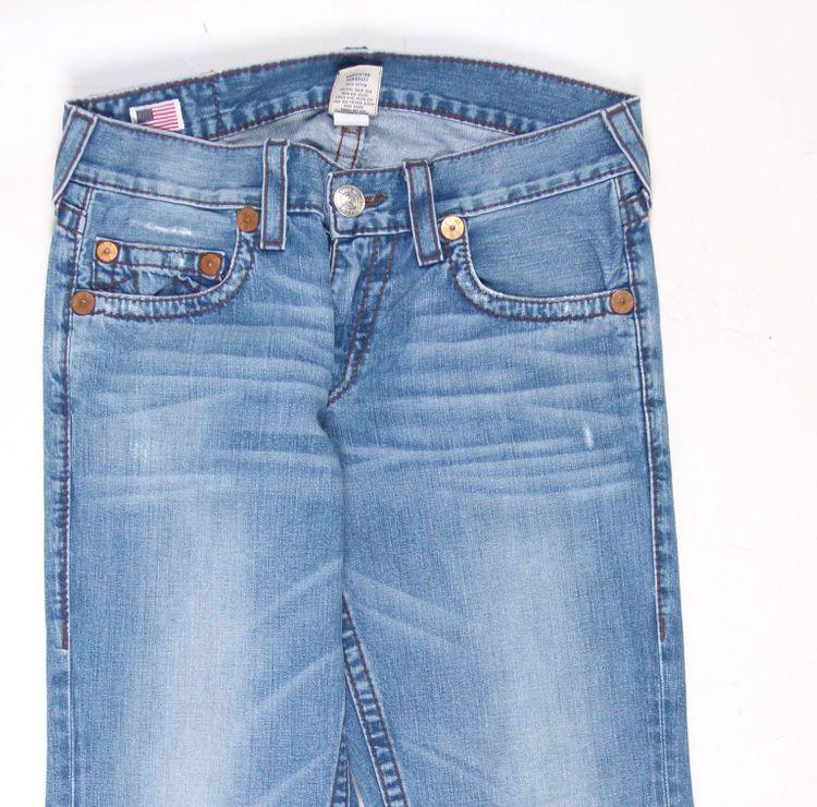 True Religion Bobby Big T Jeans Hose W 34 in Blau (AHB) – Bild 2