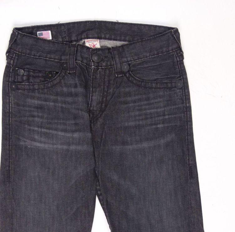 True Religion Bobby Super T Jeans Hose W 32 in Schwarz Grau (AHB) – Bild 2