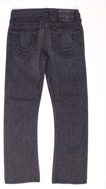 True Religion Bobby Super T Jeans Hose W 32 in Schwarz Grau (AHB) – Bild 3