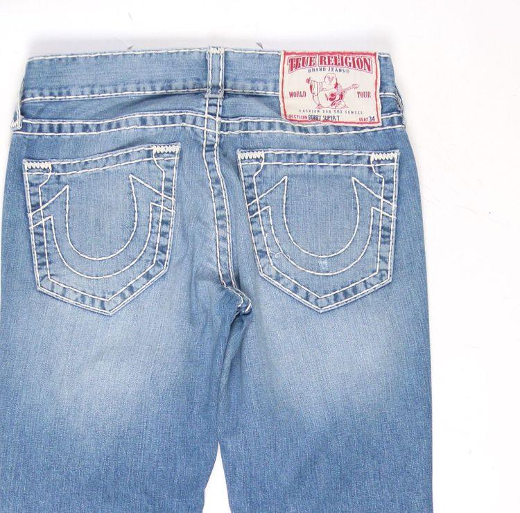 True Religion Bobby Super T Jeans Hose W 32 in Blau (AHB) – Bild 4