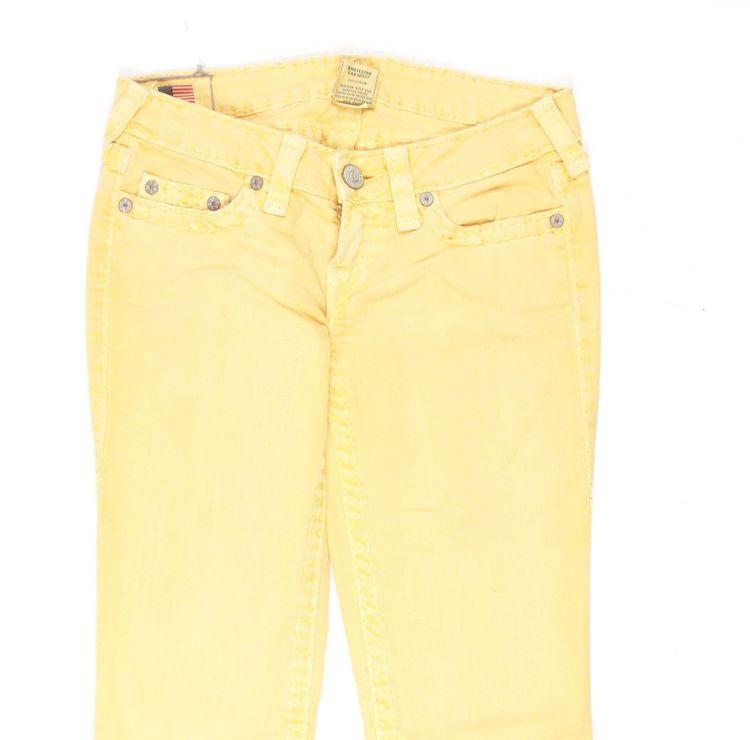 True Religion Stella Big QT Jeans Hose W 26 in Gelb (AHB) – Bild 2