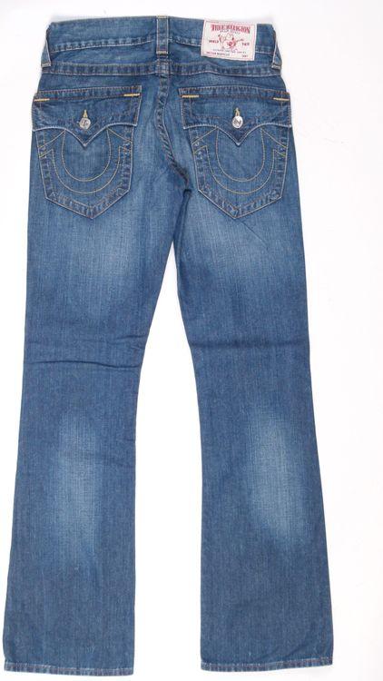 True Religion Bootcut Jeans Hose W 29 in Blau (AHB) – Bild 3