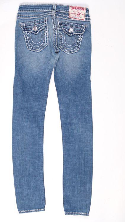 True Religion Julie Super T Jeans Hose W 27 in Blau (AHB) – Bild 3