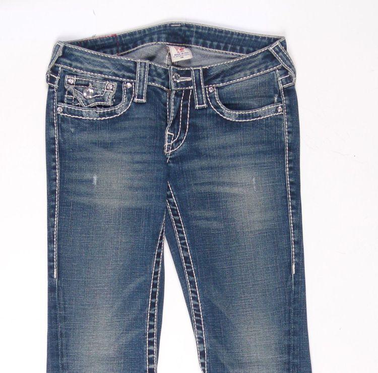 True Religion Disco Joey Big T Jeans Hose W 26 in Blau (AHB) – Bild 2