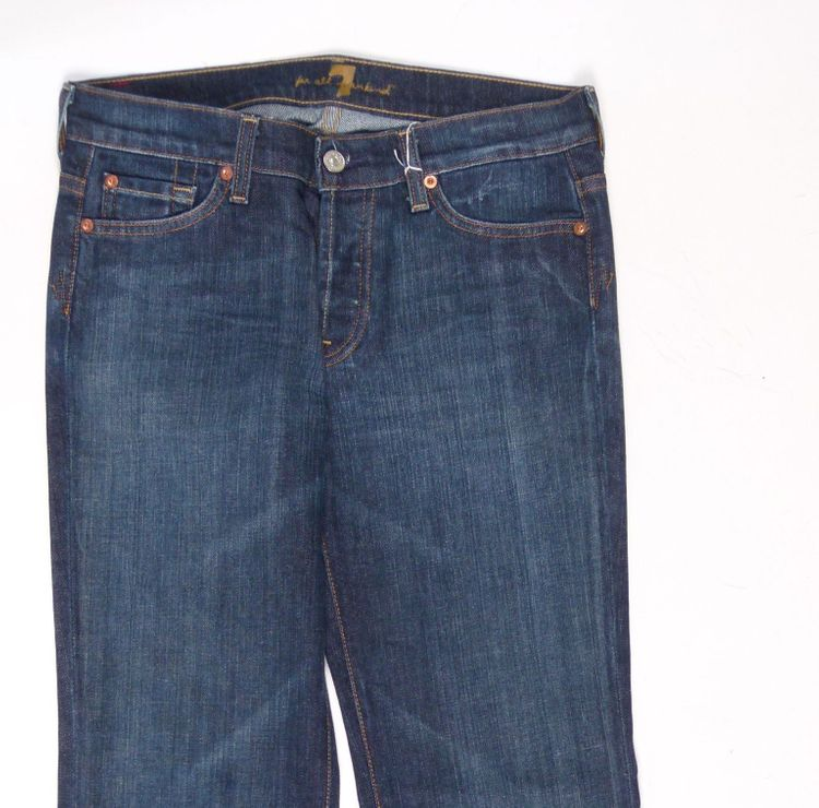 7 Seven for all Mankind Jeans Hose W 28 in Blau (AHB) – Bild 2