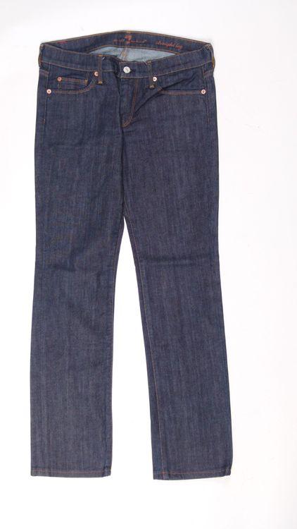 7 Seven for all Mankind Straight Leg Jeans Hose W 28 in Blau (AHB) – Bild 1