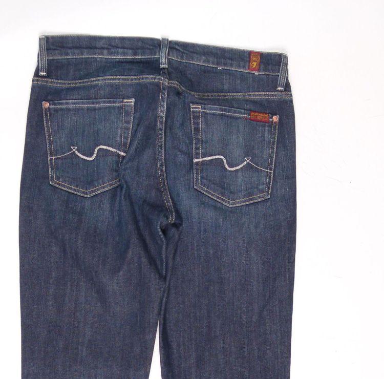 7 Seven for all Mankind Straight Leg Jeans Hose W 30 in Blau (AHB) – Bild 4