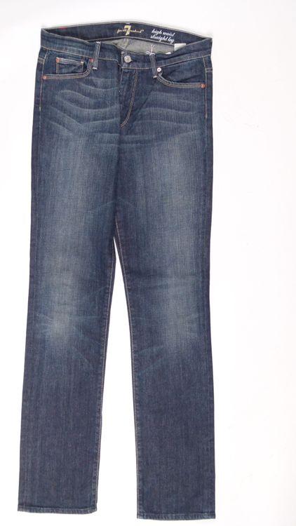 7 Seven for all Mankind Straight Leg Jeans Hose W 30 in Blau (AHB) – Bild 1