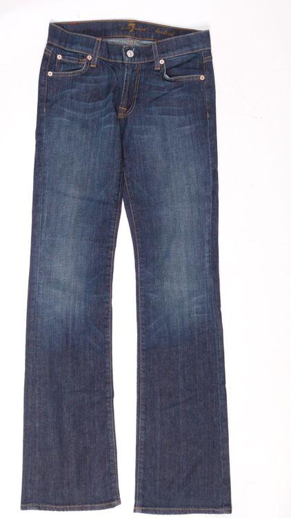 7 Seven for all Mankind Bootcut Jeans Hose W 27 in Blau (AHB) – Bild 1