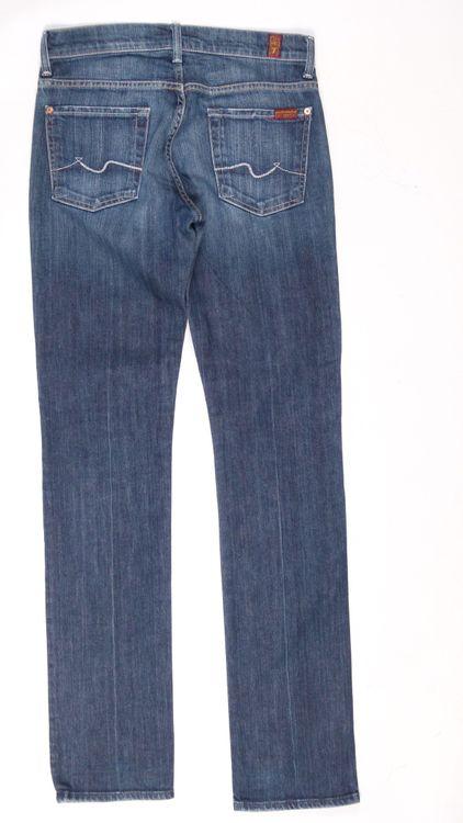 7 Seven for all Mankind Straight Leg Jeans Hose W 28 in Blau (AHB) – Bild 3