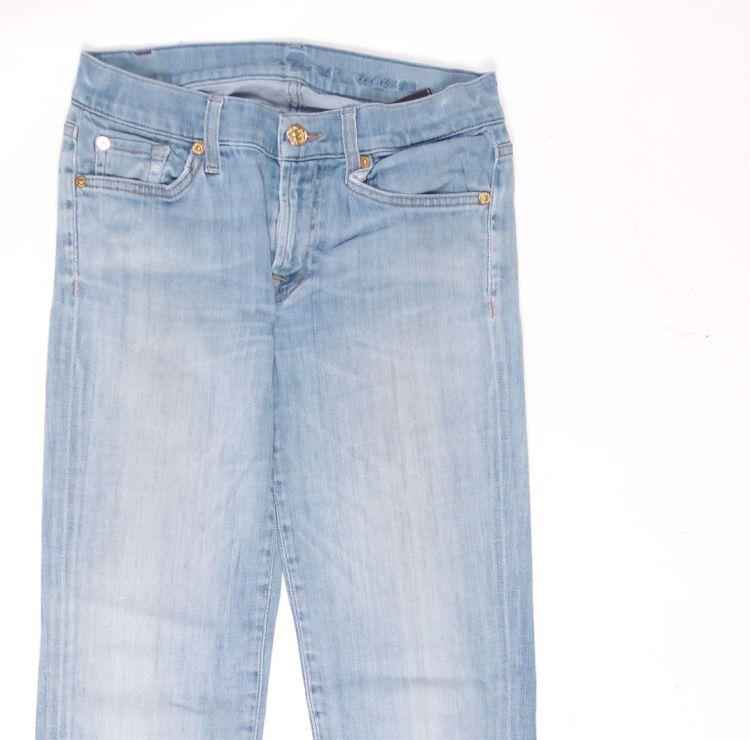 7 Seven for all Mankind Roxanne Jeans Hose W 27 in Blau (AHB) – Bild 2