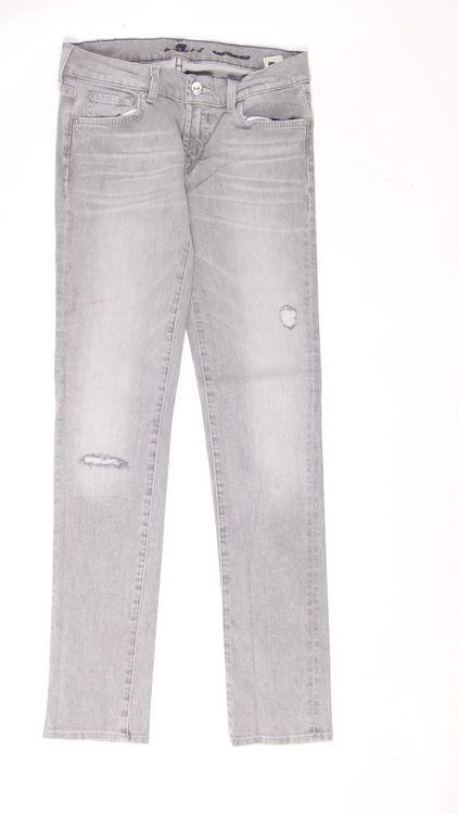 7 Seven for all Mankind Roxanne Jeans Hose W 27 in Grau (AHB) – Bild 1