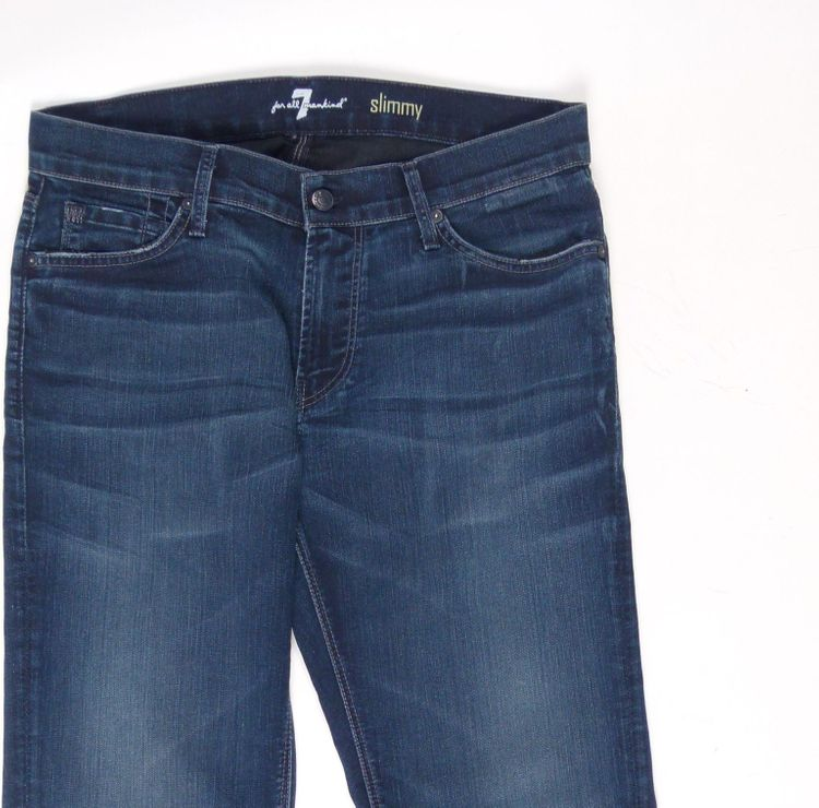 7 Seven for all Mankind Slimmy Jeans Hose W 34 in Blau (AHB) – Bild 2