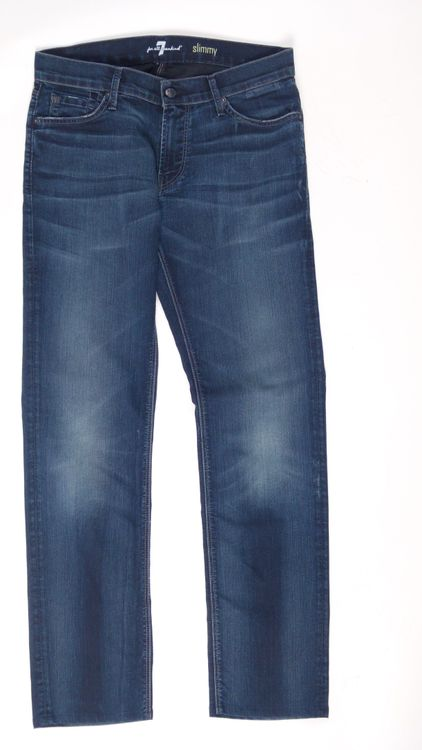 7 Seven for all Mankind Slimmy Jeans Hose W 34 in Blau (AHB) – Bild 1