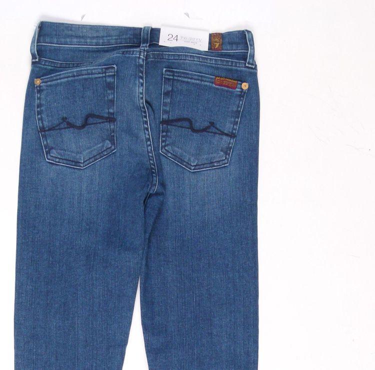 7 Seven for all Mankind Jeans Hose W 24 in Blau NEU (AHB) – Bild 4