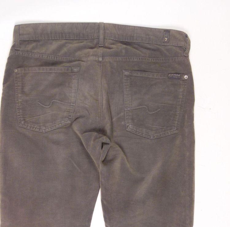 7 Seven for all Mankind Jeans Hose W 36 in Grün Grau (AHB) – Bild 4
