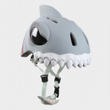 CrazySafety Der verrückte 3D Kinder Helm White Shark