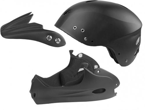 Ventura Freeride Downhill Helm Kinnschutz Gr M matt schwarz – Bild 2