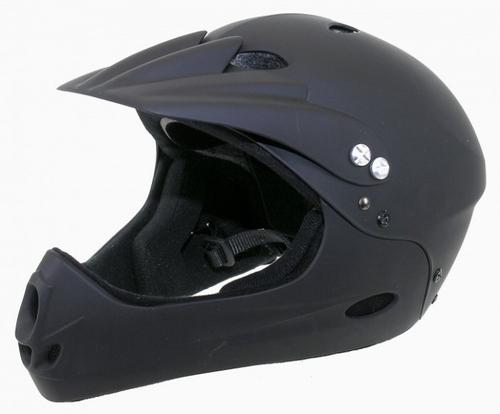 Ventura Freeride Downhill Helm Kinnschutz Gr L/XL matt schwarz – Bild 1