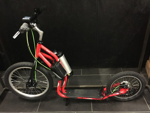 "Electro Scooter Mezeq Disc New Version 20"" 16"" red-black – Bild 1"