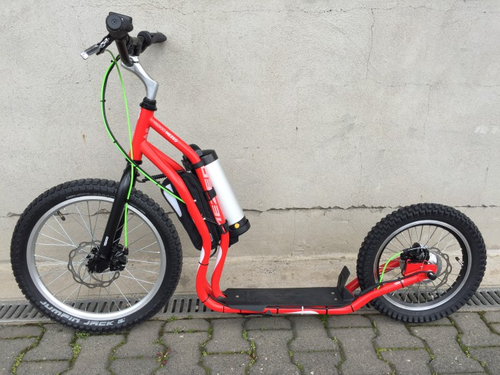 "Electro Scooter Mezeq Disc New Version 20"" 16"" red-black – Bild 3"