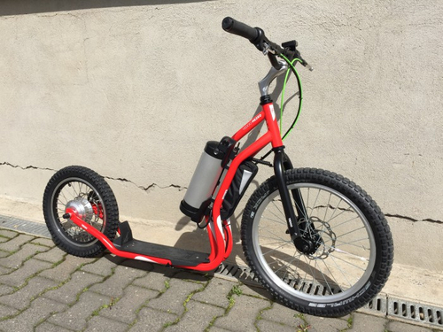 "Electro Scooter Mezeq Disc New Version 20"" 16"" red-black – Bild 4"