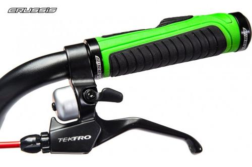 "Crussis Active 4.3 Scooter Tretroller neon green 20"" 16"" Dogscooter Erwachsene  – Bild 3"