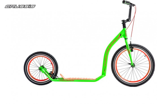 "Crussis Active 4.3 Scooter Tretroller neon green 20"" 16"" Dogscooter Erwachsene  – Bild 1"