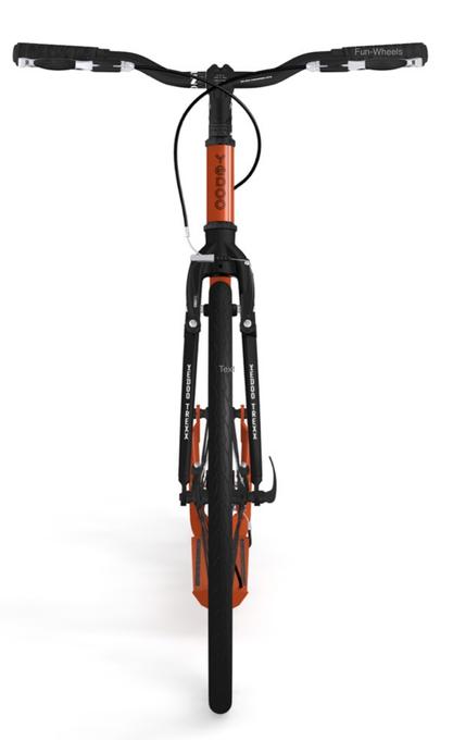 "Yedoo Tretroller Trexx Alu red/black 26""20"" Sport u. Allroundroller – Bild 3"