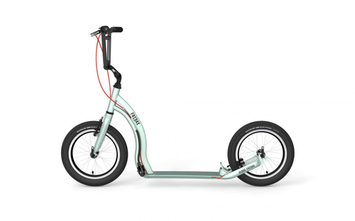 Yedoo Tretroller Friday Alu silvergreen 16 16  Dogscooter Cityroller