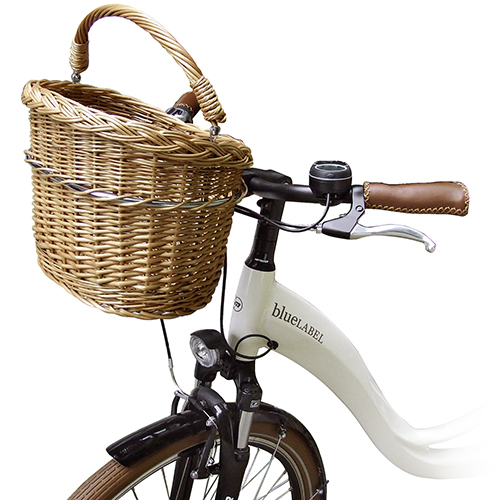 Rixen u. Kaul Lenker Weidenkorb Mini Fahrradkorb Naturweide geflochten Klickfix – Bild 2