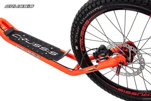 "Crussis Cross 6.1 Dogscooter Neon Orange Scooter 26"" 20"" mit Federgabel Tretroller Erwachsene – Bild 3"