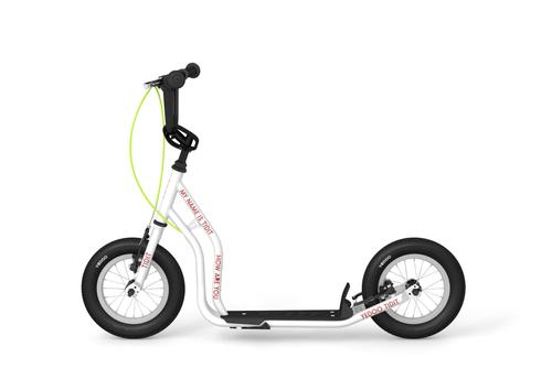 """Yedoo New Tidit Tretroller 12"""" weiß Luftreifen Felgenbremse für Coole Kids   – Bild 1"""