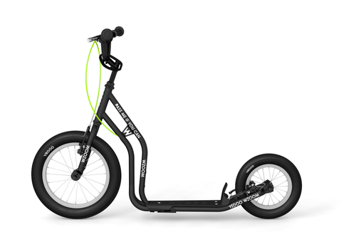 "Yedoo New Wzoom 16"" 12"" Tretroller  Black  Kickscooter for cool Girls and Boys – Bild 1"