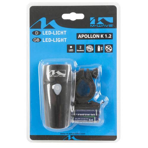 M-Wave Apollon K 1.2 new Batterielampe 1 Watt deutsches Prüfzeichen – Bild 2